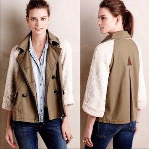 Anthropologie Hei Hei Shimmer-Sleeve Anorak jacket